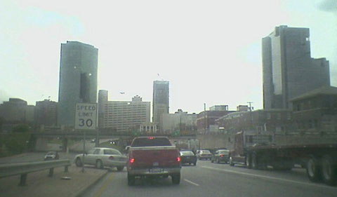 Downtown Fort Worth traffic jam