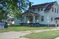Johnny Carson's boyhood home in Norfolk, NE, taken July 2004. Click for larger image
