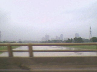 Trinity River at Beach Street, Fort Worth