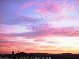 Fort Worth, Texas Webcam, Sept. 27, 2004. Image links to large version in new window