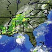 Radar Image, 12 a.m. EDT Thursday