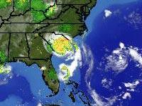 Radar, 5 a.m. EDT Sunday. Click for live U.S. radar