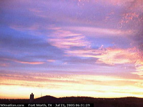 From WXnation Webcam in far north Fort Worth. Click for larger image in new window