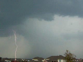 Lightning strike taken Aug. 7 in far north Fort Worth