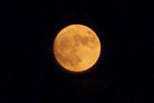 Full moon taken Aug. 18 in far north Fort Worth. Click for larger image in new window