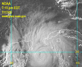 GOES Gulf Of Mexico Visible Satellite. Links to updated image