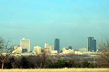 Fort Worth skyline from Broadcast Hill in East Fort Worth, taken Feb. 15, 2005. Click for larger image