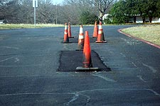 Repairs to KXAS-TV road in East Fort Worth, taken Feb. 16, 2005. Click for larger image