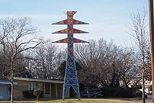Taken Feb. 9, 2005 in North Richland Hills, Texas, looking at artwork on Bedford Euless Road. Click for larger image