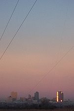 Taken Jan. 17, 2005 in east Fort Worth, looking at Fort Worth skyline. Click for larger image
