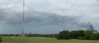 Taken July 28 east of Fort Worth's skyline. Links to larger image in new window