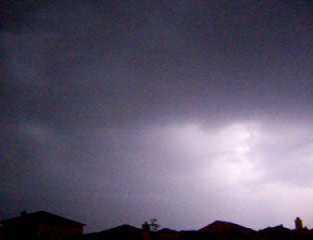Lightning during Friday The 13th storm in north Fort Worth, Texas, taken May 13, 2005