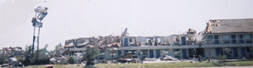 Moore, OK torando damage from I-35