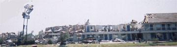 Moore, OK torando damage from I-35