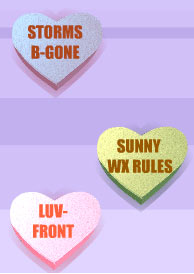 Valentine's Day e-card sent to the KXAS-TV weather team for V-Day 2003