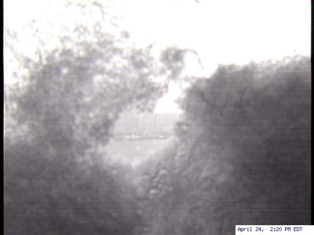 Snow attacks WDIV-TV's Detroit skyline webcam