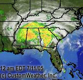 WXnation.com radar at 12 a.m. CDT Mon. Links to live image